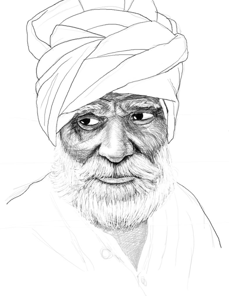 785x1018 Indian Old Man By Ricardo73