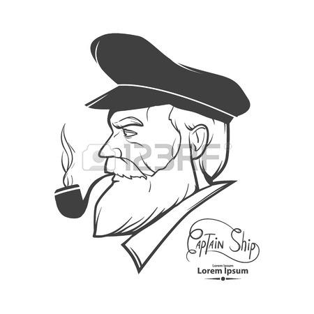 450x450 Man Silhouette Portrait Character, Captain, Simple Illustration