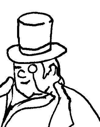 328x415 Rich Old Man A Simple Drawing Of A Rich Man. Love To Hate