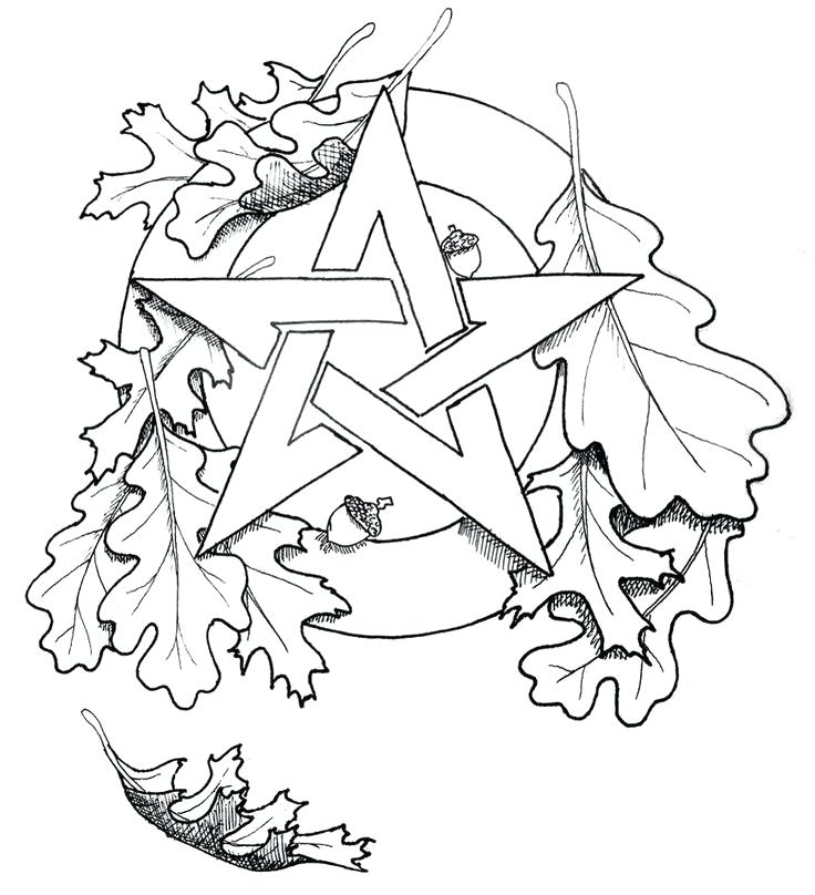 736x808 Simple Wiccan Coloring Pages Fee Old Man Free Of Year Adult Page