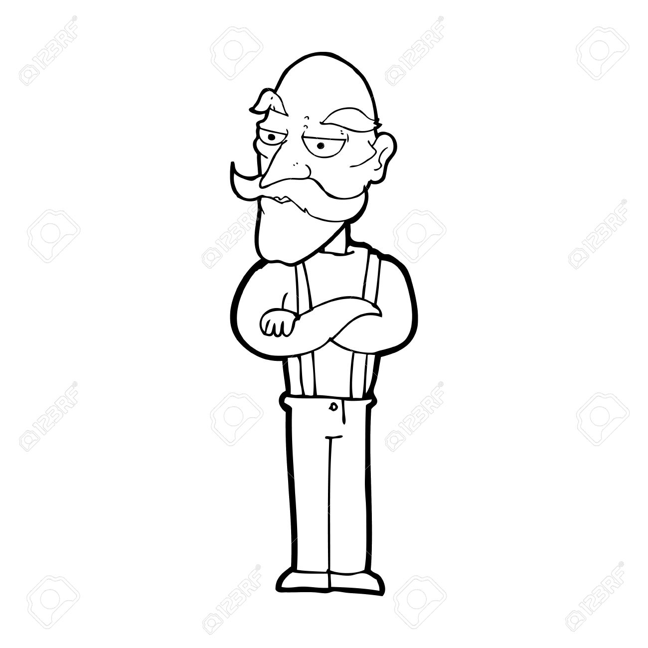 1300x1300 Cartoon Bored Old Man Royalty Free Cliparts, Vectors, And Stock