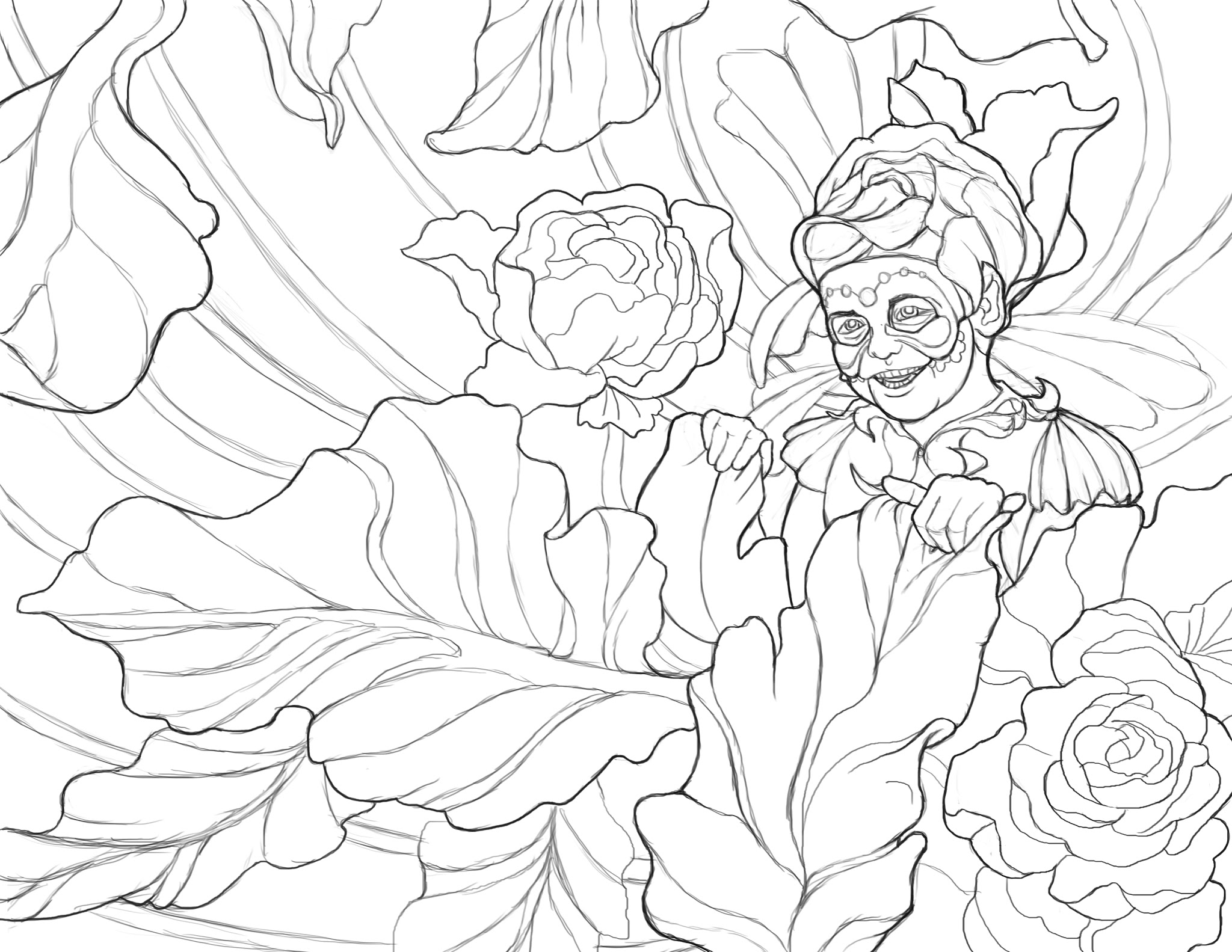2048x1583 365 Days Of Coloring The Peony People