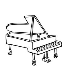 Simple Piano Drawing At Getdrawings Com Free For Personal Use