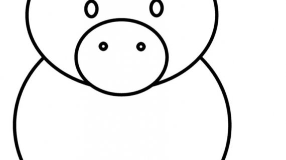 570x320 How To Draw A Pig Easy Pig Drawing