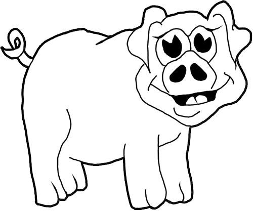 500x417 How To Draw Cartoon Pigs Farm Animals Step By Step Drawing