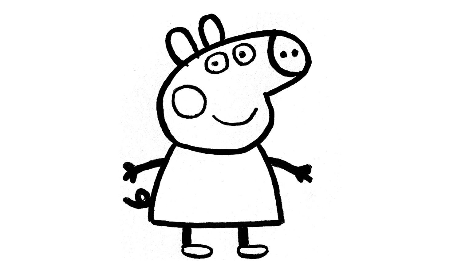 1500x885 How To Draw Peppa Pig (Character)