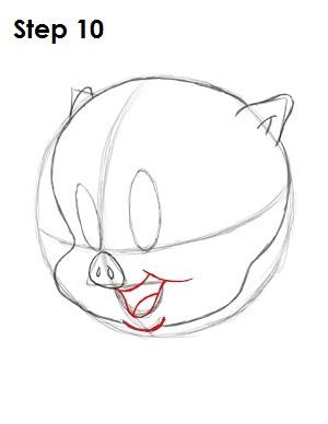 300x388 How To Draw Porky Pig