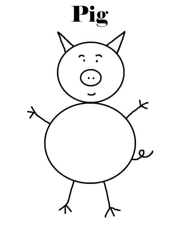 618x754 Olivia The Pig Coloring Pages Animal Outlines To Color Pig