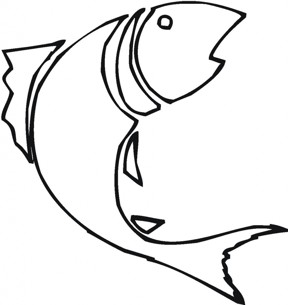 968x1024 Outline Drawings Of Fish Group