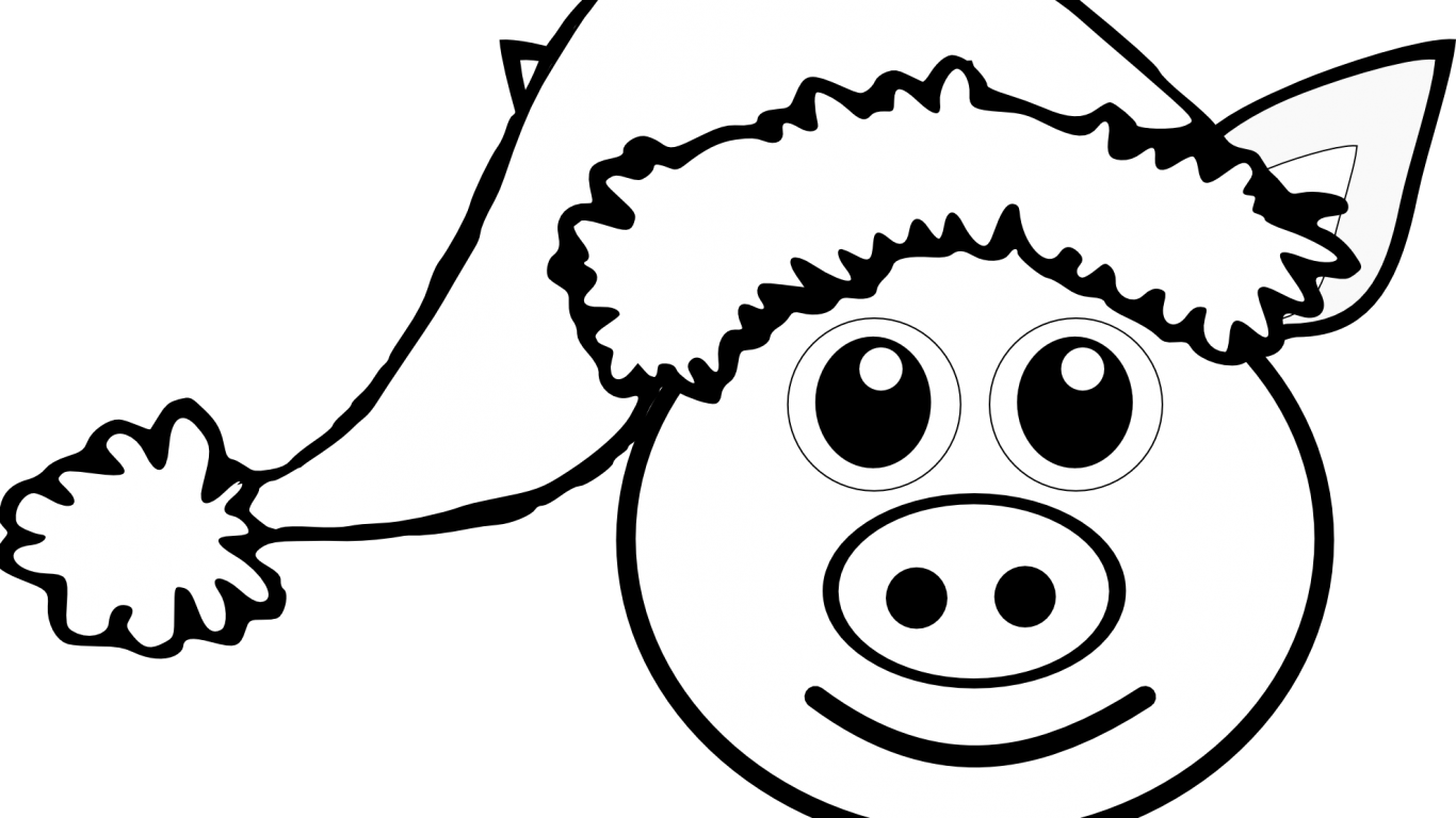 Simple Pig Drawing at GetDrawings.com | Free for personal use Simple ...