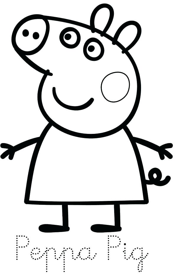600x934 Peppa Pig Colouring Pages Pdf Coloring Preschool Animal Of Simple