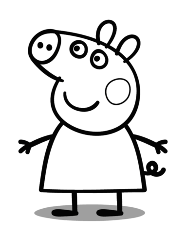 382x480 Peppa Pig Coloring Page Free Printable Coloring Pages
