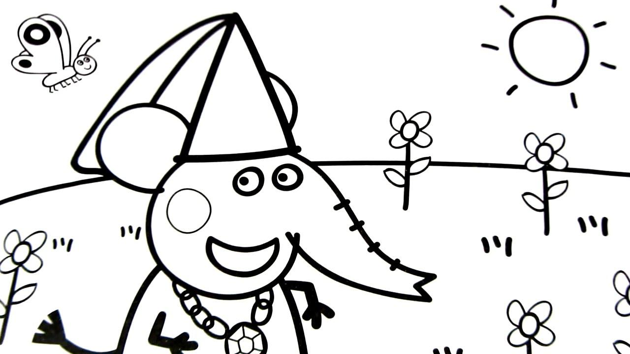 1280x720 Simple Pig Coloring Page Simple Colorings