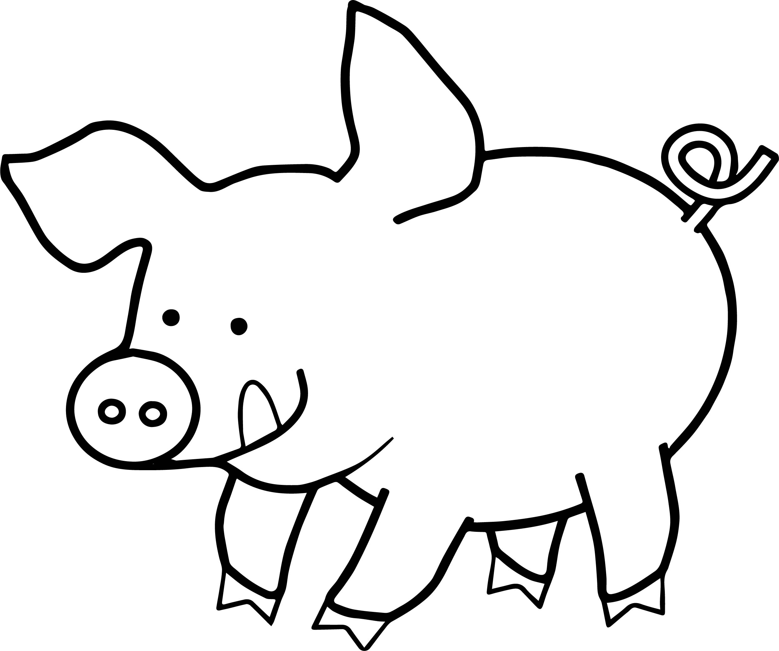 It's just a graphic of Smart Easy Pig Drawing