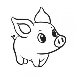 302x301 How To Draw A Simple Pig