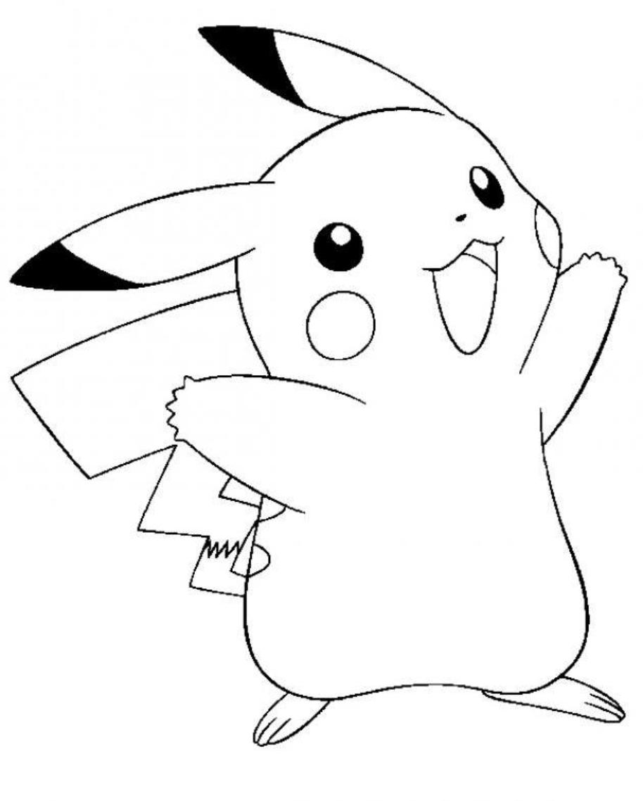 914x1138 Pikachu Coloring Pages On Pikachu Coloring Pages Ears With Hd