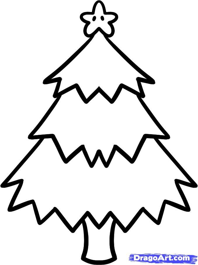 678x906 Christmas Tree Drawing