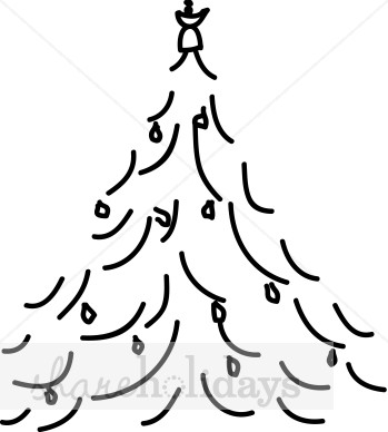 349x388 Simple Line Christmas Tree Christmas Tree Clipart