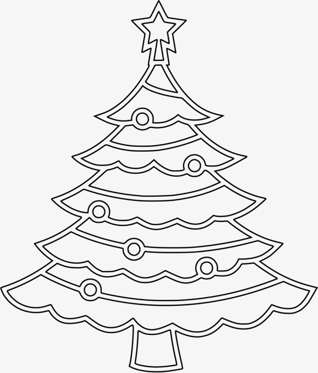 650x762 Black And White Rectangle Christmas Tree, Rectangular Composition