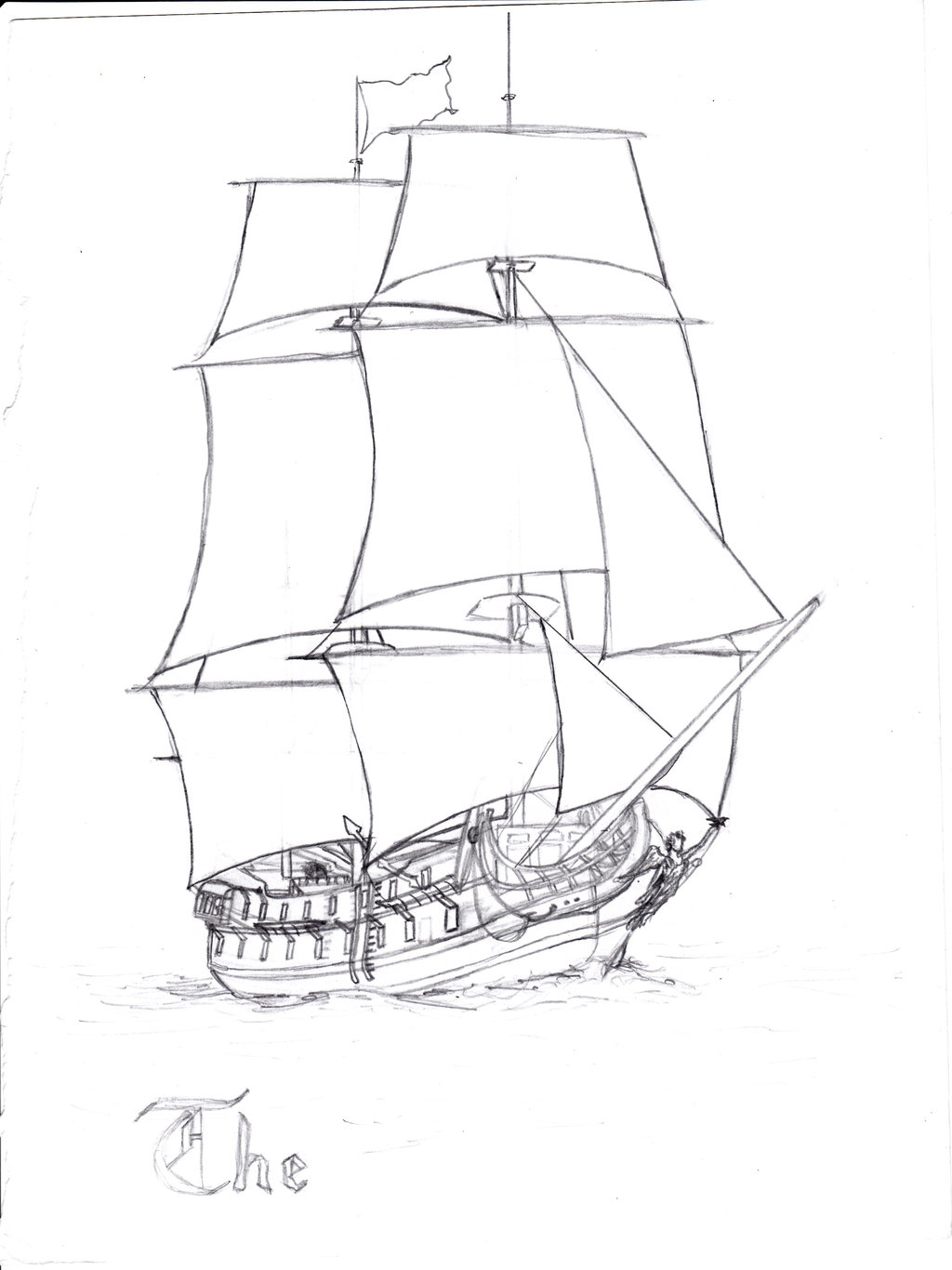 pirate ship sail template - simple pirate ship drawing at free for