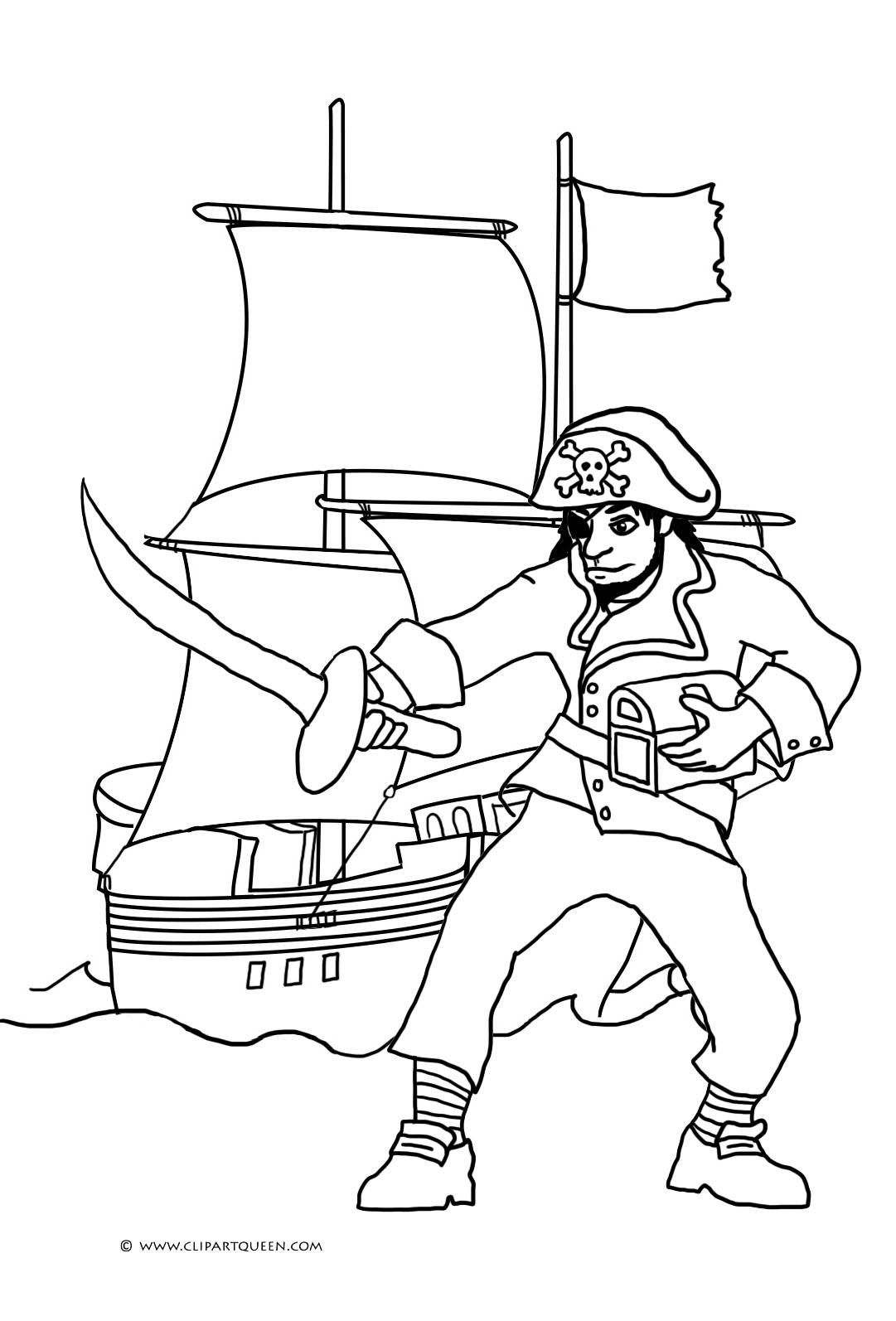 Simple Pirate Ship Drawing at GetDrawings | Free download