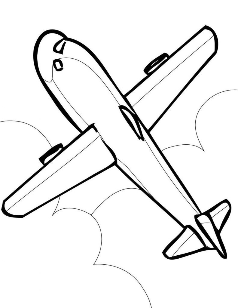 792x1024 Airplane Coloring Pages Simple New Front Airplane Coloring Page