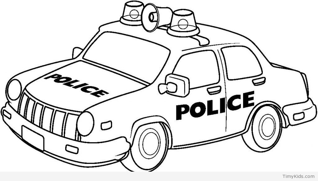 Simple Police Car Drawing