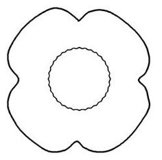 236x232 Free Printable Poppy Remembrance Day Craft With Printable Template