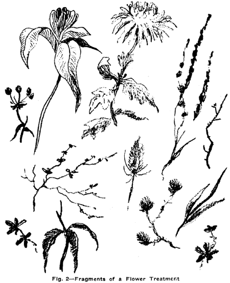 450x555 Drawing Flowers, Plants, Weeds, And Leaves With Drawing Lessons