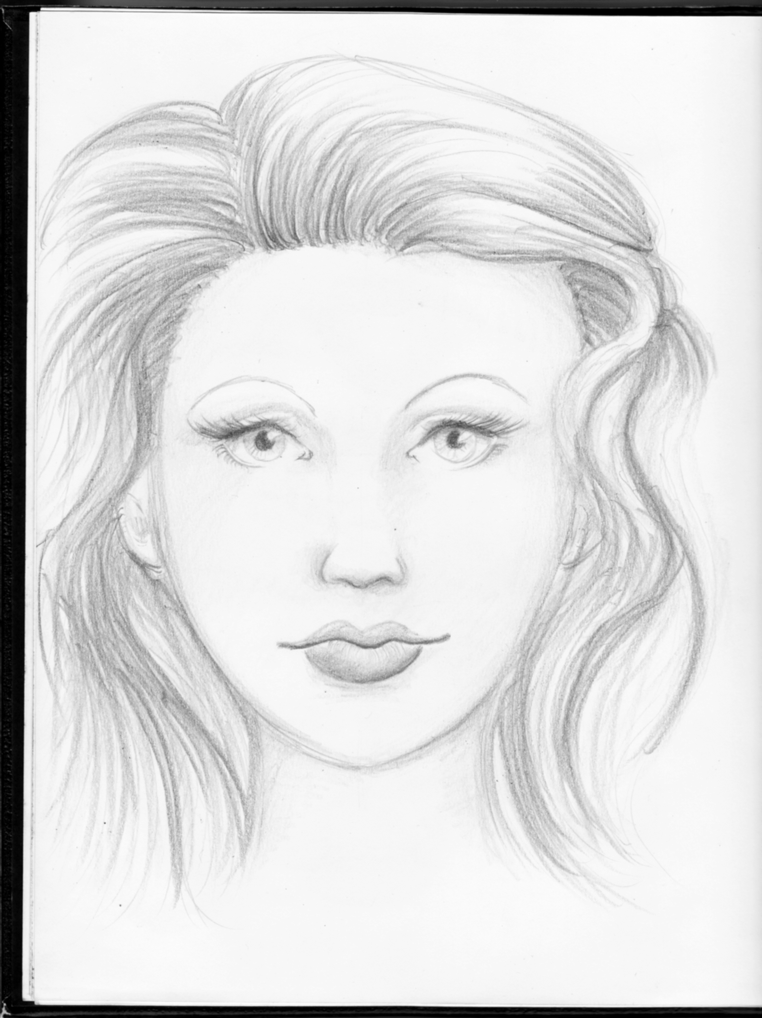 Simple Portrait Drawing At Getdrawings Com Free For