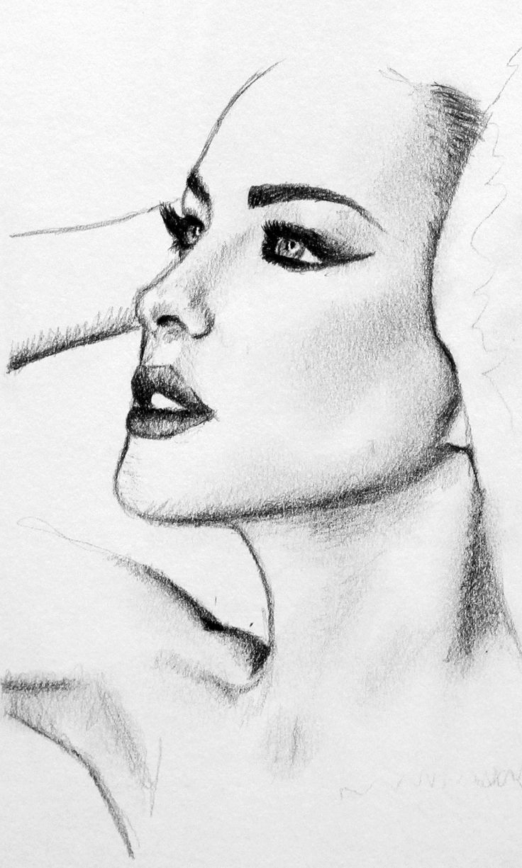 Simple Portrait Drawing at GetDrawings | Free download