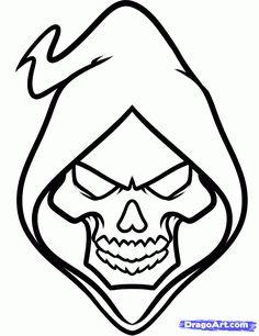 236x306 Easy Tattoo Drawings Beginners Tattoo Prison Stick Skull Design