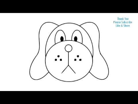 480x360 How To Draw A Dog Simple Easy Drawing Puppy Cartoon