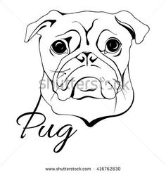 236x246 Image Result For Pug Line Drawing Simple Crafts