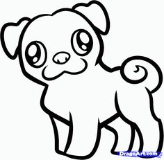 236x231 Pug Outline Coloring Book Outlines, Craft