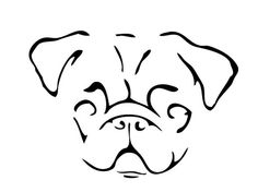 236x176 Simple Pug Face Drawing