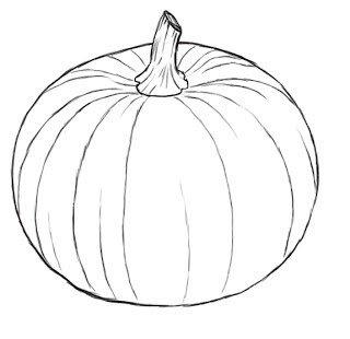 320x310 How To Draw A Pumpkin