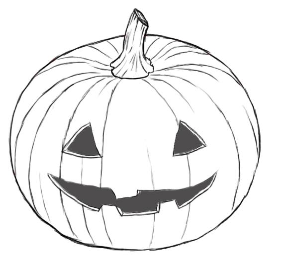 575x557 How To Draw A Pumpkin