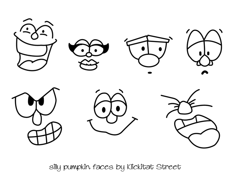 792x612 Silly Pumpkin Faces With Royal Icing Transfers Klickitat Street