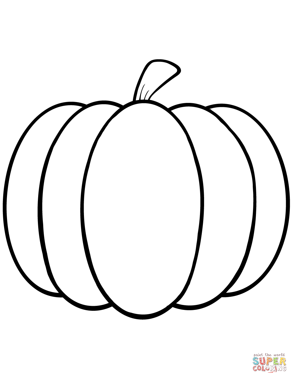 1005x1300 Simple Pumpkin Coloring Page Free Printable Coloring Pages