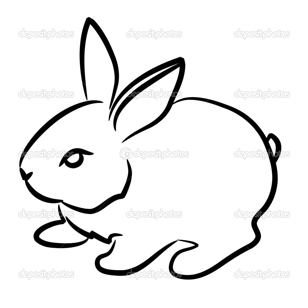 1024x1024 Drawing Of Rabbit Simple Simple Rabbit Drawing Drawing Step