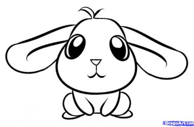 640x420 Tag For Cute Bunny Drawing How To Draw A Rabbit Step8 Jpg