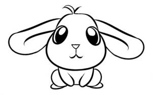 302x187 Easy Rabbit Drawing