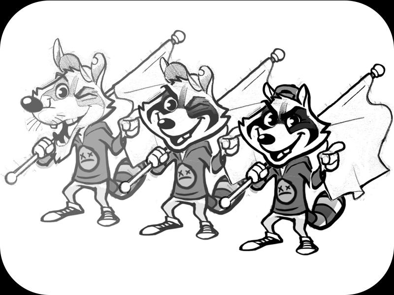 Simple Raccoon Drawing At Getdrawings Com