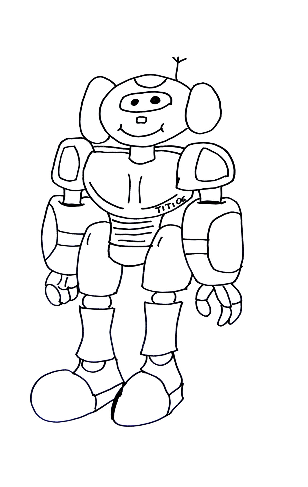 Simple Robot Drawing at GetDrawings.com | Free for personal use ...