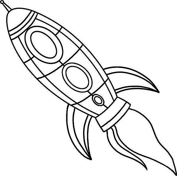 600x596 Rocket Ship Coloring Pages