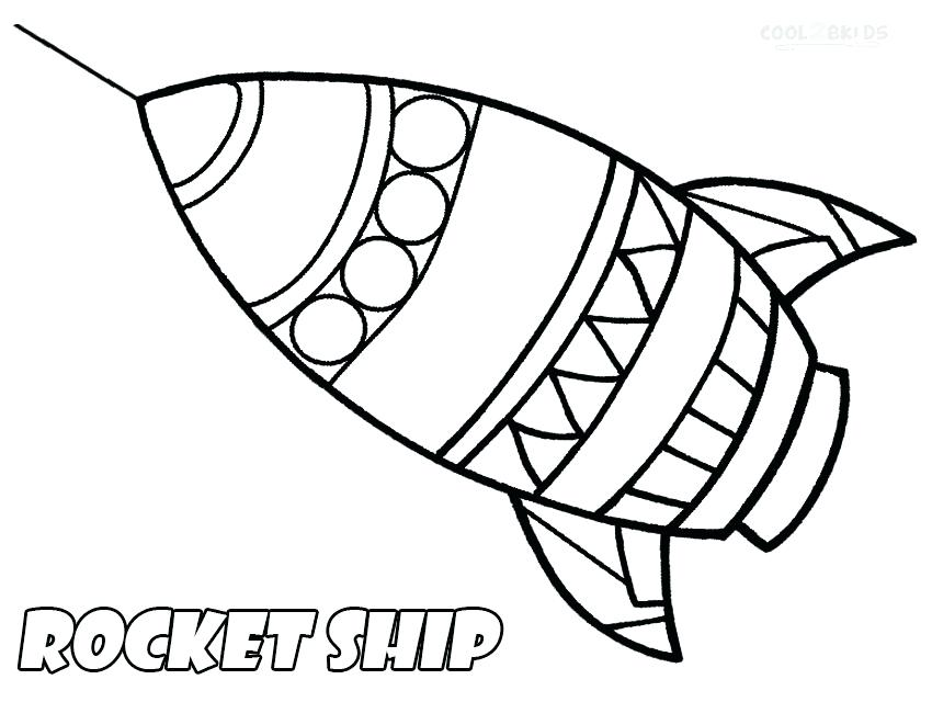 850x640 Top Rocket Ship Coloring Page Online Challenger For Kids Download