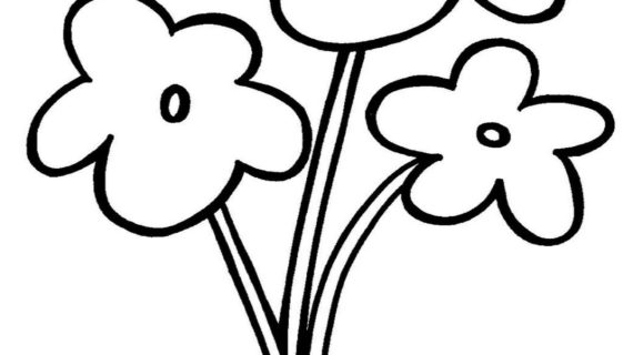 570x320 Simple Drawing For Kids Flowers How To Draw A Flower