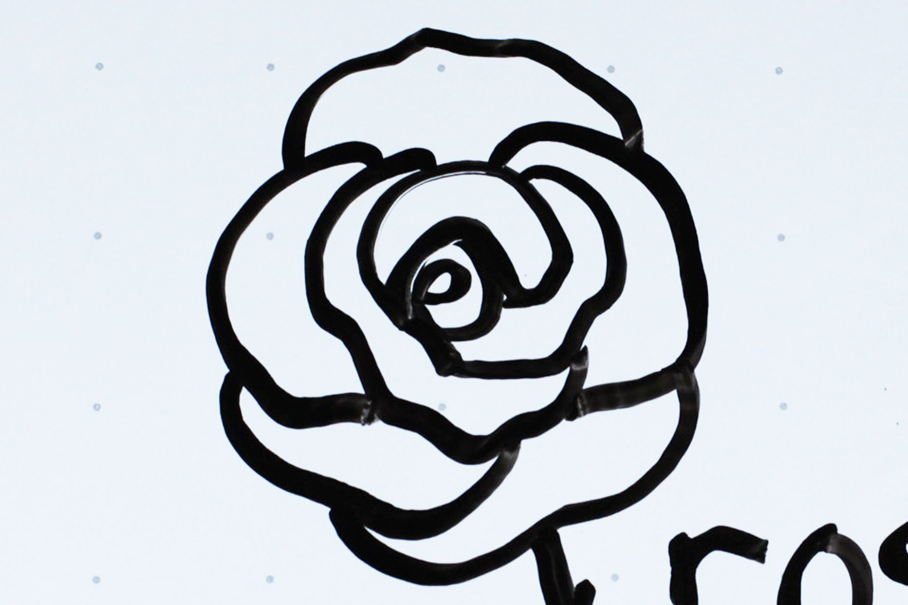 Simple Rose Flower Drawing