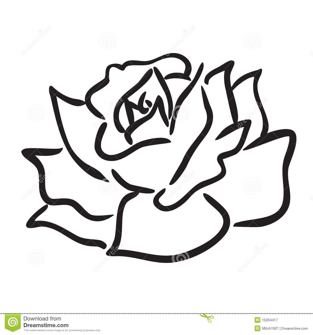 1300x1390 Drawing Of A Simple Rose Flower Drawing Simple Simple Rose Flower